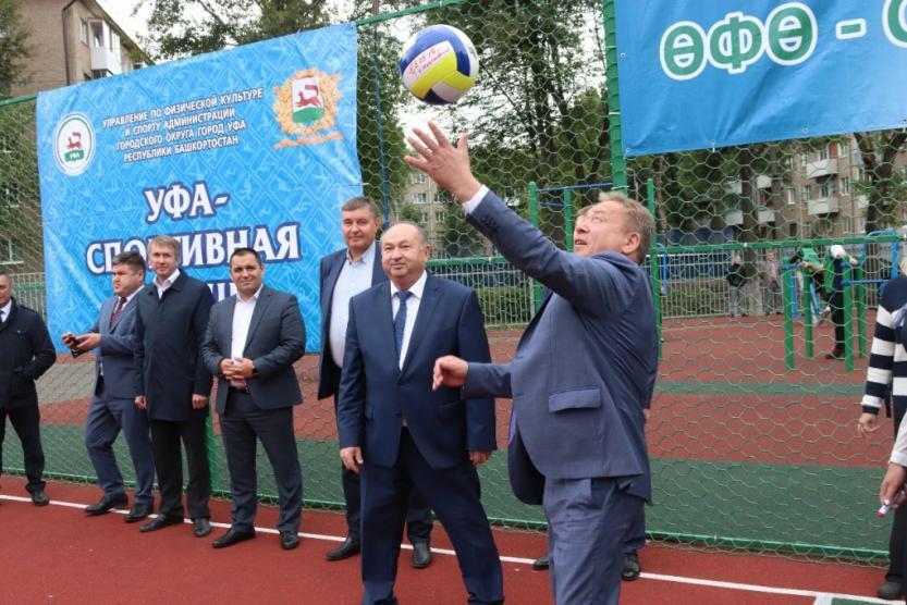 В гимназии состоялось торжественное открытие многофункциональной спортивной площадки